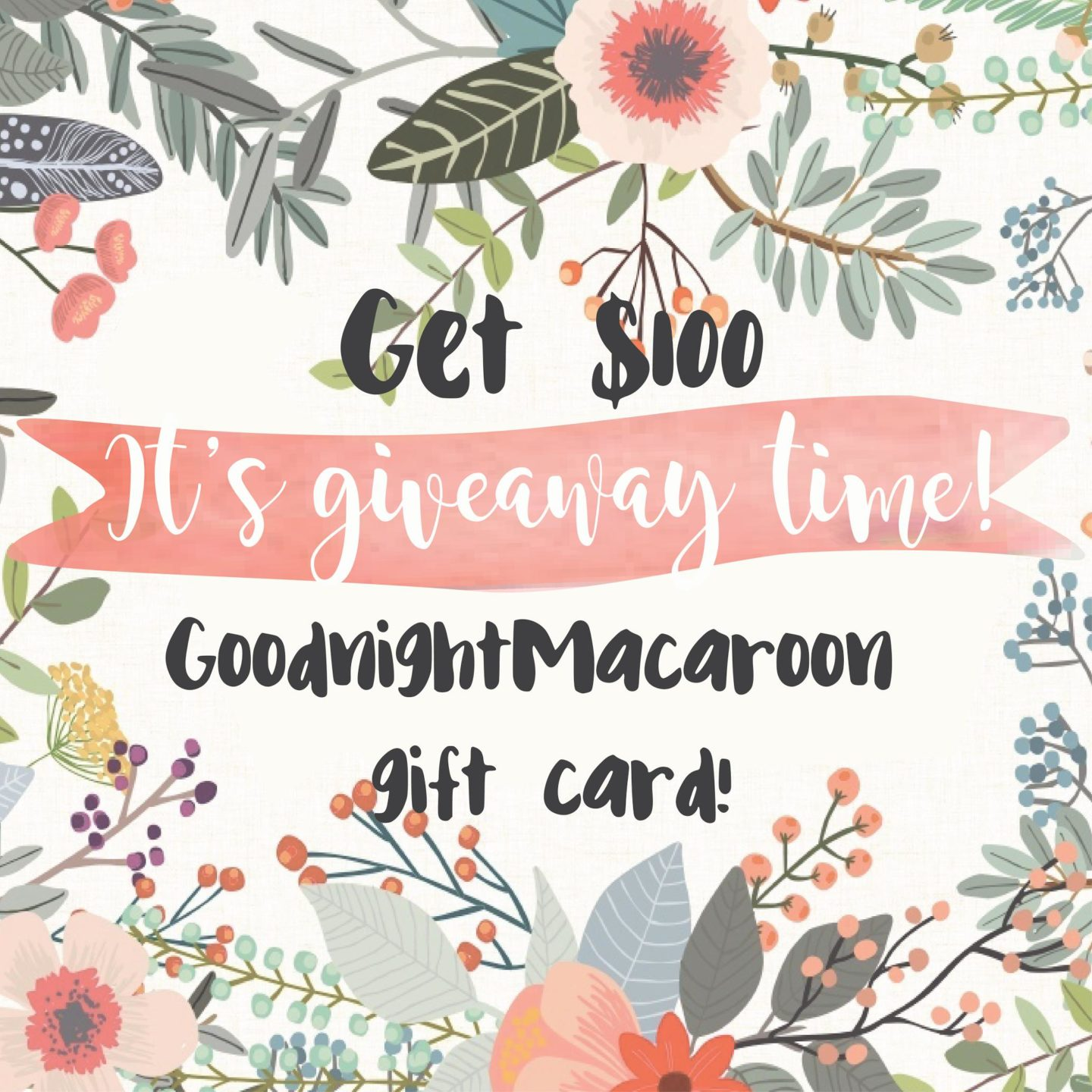 Goodnight Macaroon Giveaway