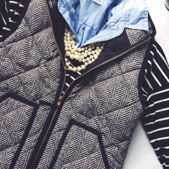 goodnight macaroon herringbone vest
