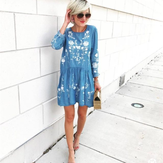 This dress is everything! Its under 50 today on goodnightmacaroonco!hellip