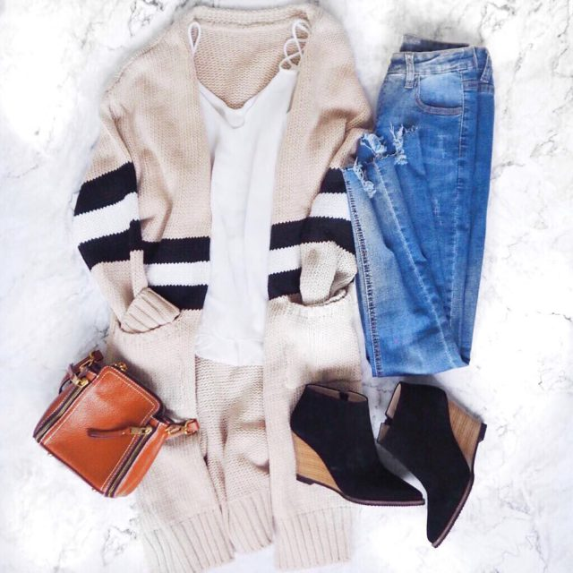 Another outfitoftheday featuring our favorite Estrella cardigan  link inhellip